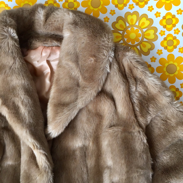 OTEX FAUX FUR COAT Melbourne Vintage Evening