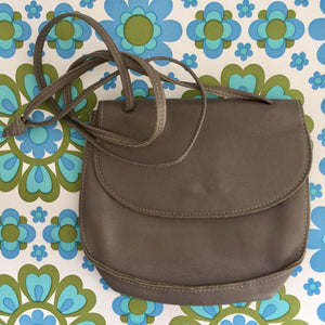 Super Cute LEATHER handbag in a Beautiful Grey