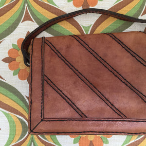 Cute Little Purse Handbag Cross Body GENUINE LEATHER Vintage