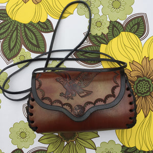 BOHO Country Hippy CHIC Festival Travel Worn Handbag Purse Cross Bag EAGLE