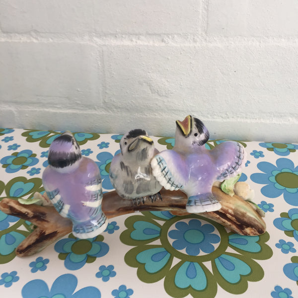 Baby BLUEJAY Figurine Kitsch Bird Vintage Retro Home