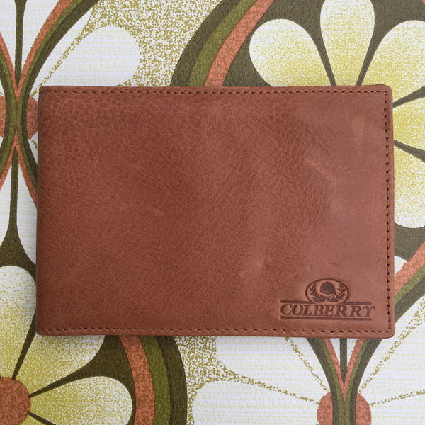Mens COLBERT Wallet Genuine LEATHER AS NEW Vintage Style