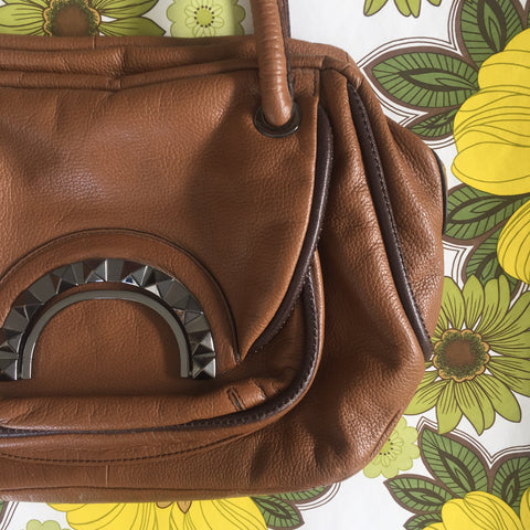 MIMCO Leather Handbag Brown GOOD CONDITION