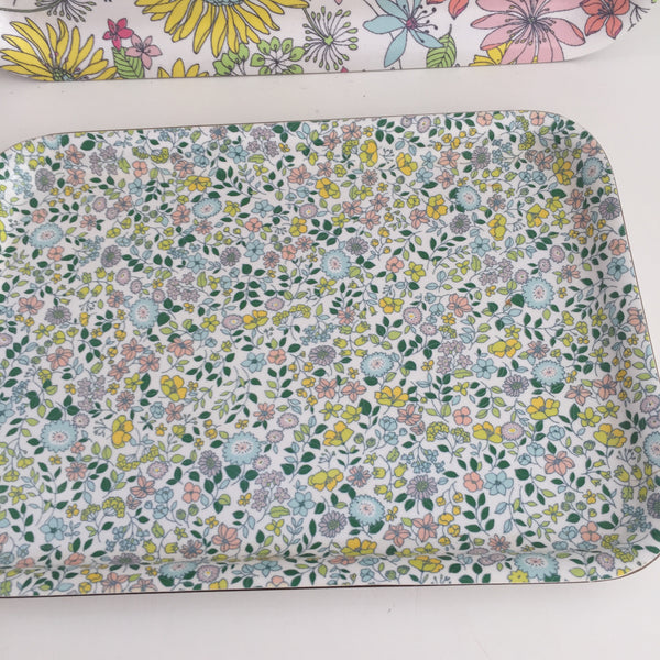 Cute Floral Plastic Serving Trays Kitchen Home
