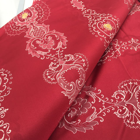 BEAUTIFUL Vintage Red Brocade Bedspread ITALY Paris Apartment