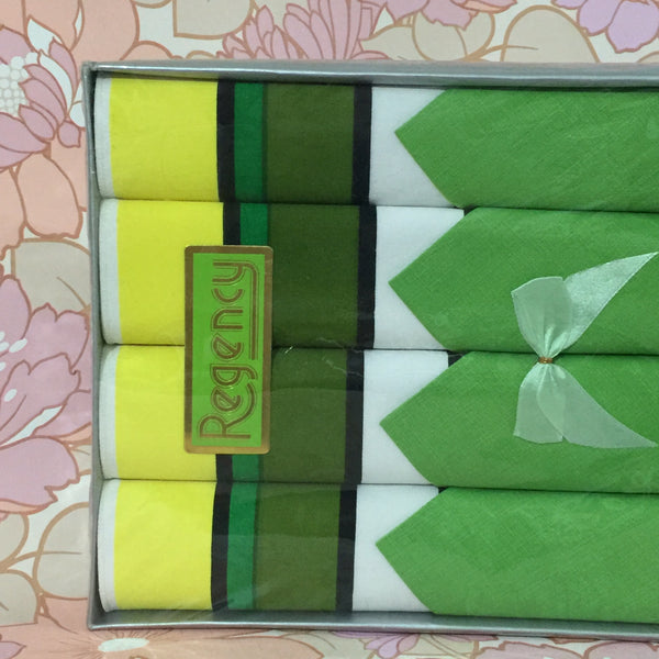 Cool Vintage RETRO Napkin & Placemat Set GREEN ~ New Boxed