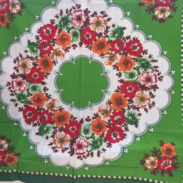 UNUSED All Cotton TABLECLOTH Picnic Caravan Kitsch VINTAGE