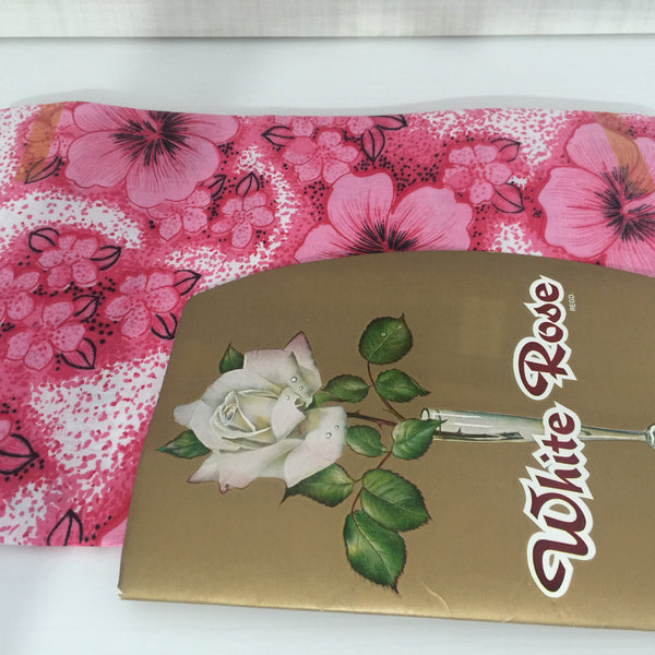 Vintage ~ Unused ~ PILLOW Cases ~ Pair Pink Floral - Pink Peacock  - 2