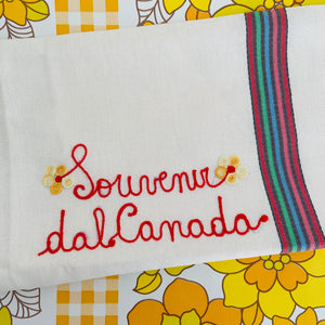 Cute Little Vintage TEA Towel EMBROIDERED