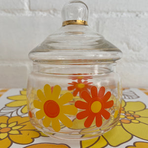 SWEETEST Little Daisy Jar Sugar Storage Buttons RETRO Vintage Item