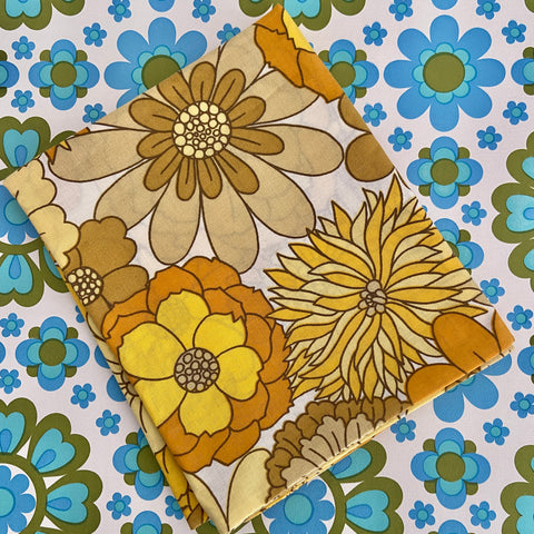 RETRO 70's Cotton AS NEW Pillow CASE Amazing BOLD Bright Print