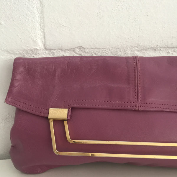 AMAZING Vintage CLUTCH Handbag GENUINE LEATHER