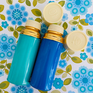 SWEET Vintage Sunflower Thermos PAIR Picnic Summer BEACH