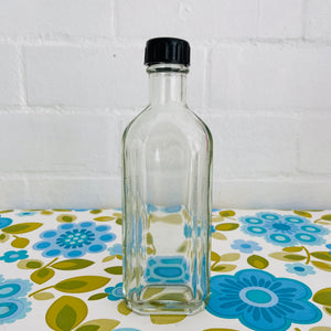 COOL Old Asian Glass Bottle VINTAGE Medicine Kitchen