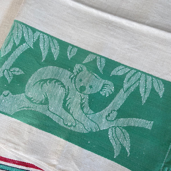 Ireland LINEN Tea TOWEL Unused KOALA Unfinished BULK LOT Fabric