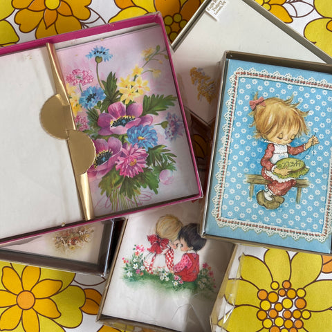 Vintage Greeting Cards STACK Hallmark 50's 60's 70's Craft
