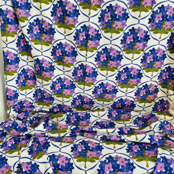 Terry Towelling VINTAGE Floral Fabric Sewing Craft
