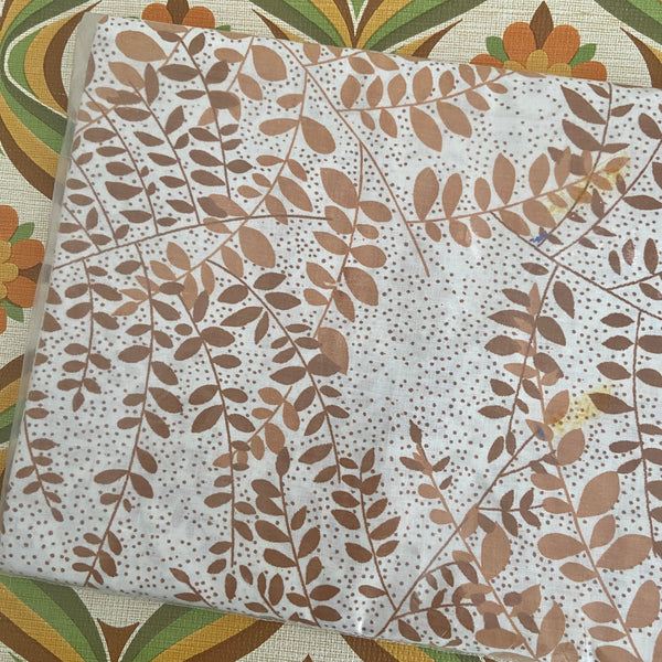 CAMEO Printed UNUSED 70's Cotton Sheet FABRIC