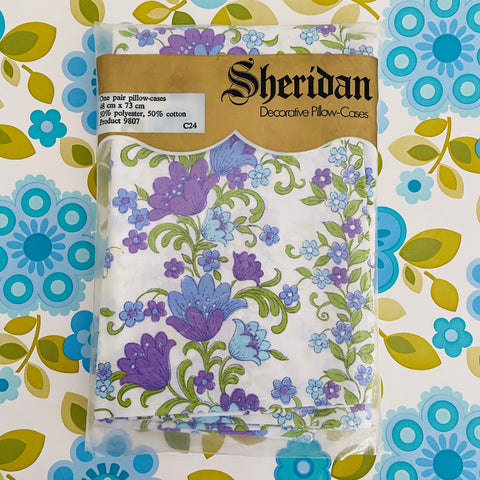 AMAZING Vintage Sheridan Pillow Cases PAIR UNUSED 70's