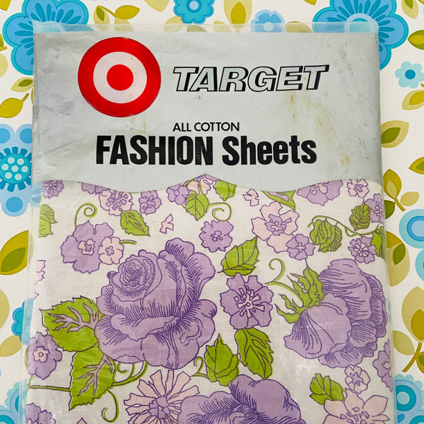 TARGET Cotton Vintage Sheet Sewing Quilting FULL SIZE UNUSED