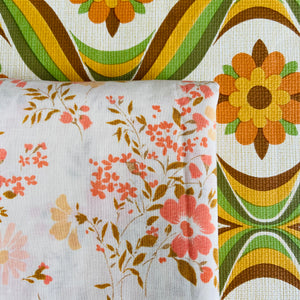 PRETTY Vintage Cotton Sheet PACTH WORK Sewing Quilt