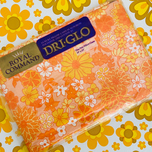 DRI Glo Retro PAIR Cotton pillow CASES 70's BEDROOM