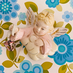Vintage ANGEL SCONCE Adorable Kitschy Home 50's