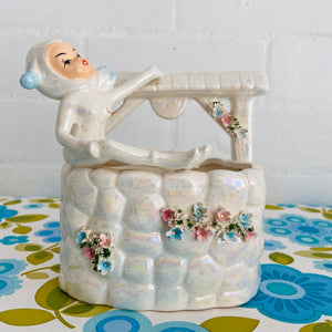 KITSCHY Vintage Planter Adorable FIGURE 50's Home