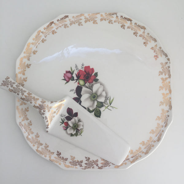 Lord Nelson Pottery Made in England Cake Tray & Server Dinner Party