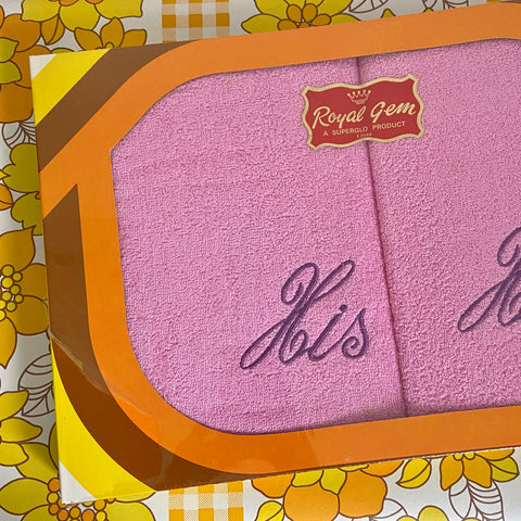 ROYAL GEM Superglo BOXED Pink RETRO BATHROOM TOWEL