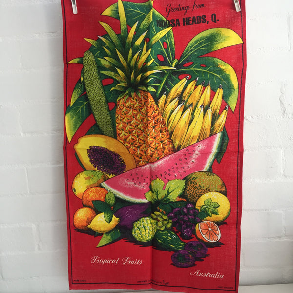 FRUIT Linen Tea Towel SOUVENIR Kitchen Collectable