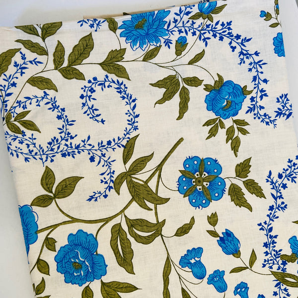 Vintage ALL COTTON UNUSED Full Size Sheet BEAUTIFUL