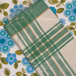 VINTAGE Unused Linen Table Cloth Checked ADORABLE