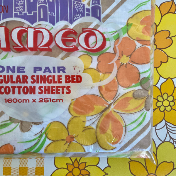 CAMEO One UNUSED Crisp Sheet All Cotton Sewing VINTAGE