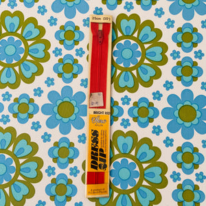 AERO Vintage Zip Red 25cms NYLON