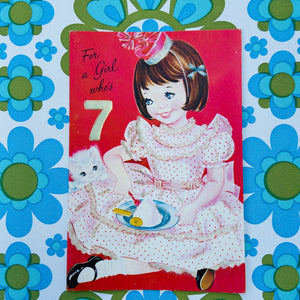 50's 60's Vintage RETRO Print Birthday Cards CRAFT Collectable Girl 7
