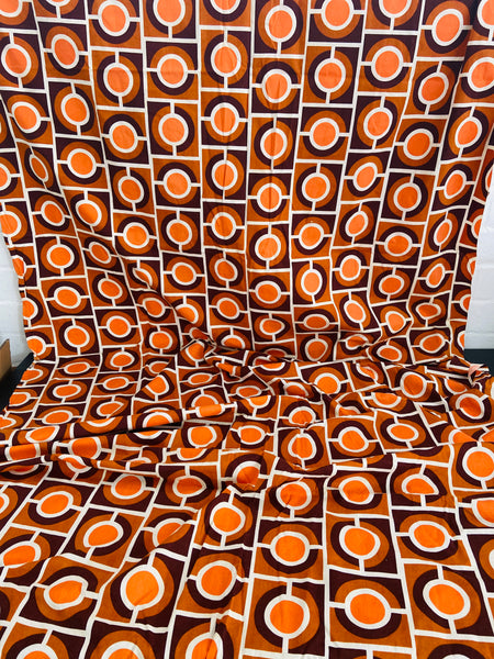 240cms COTTON Retro Mid Century FABRIC AMAZING Print