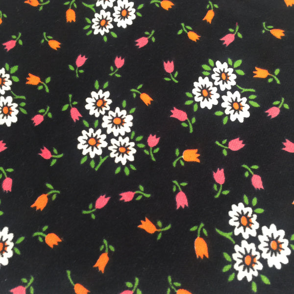 Vintage Floral VELVET Fabric Stunning Colours LOVE IT!