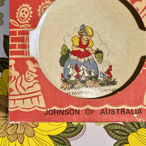 NURSERY RHYMES Boxed 70's Johnson of AUSTRALIA Humpty Dumpty