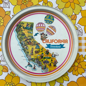 VINTAGE Retro TIN Tray California Disneyland Mickey Mouse