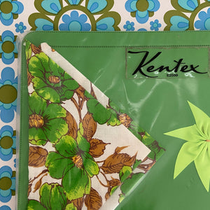 KENTEX Table Napkins & Placemats Green RETRO