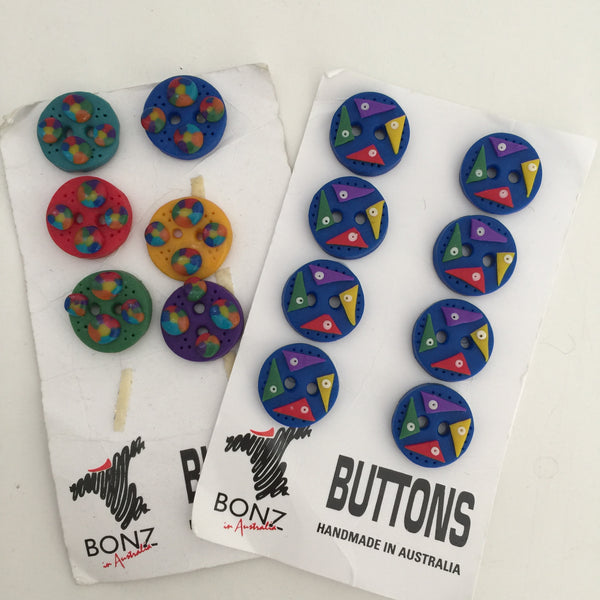 BONZ Funky Vintage Buttons Craft Sewing Handmade