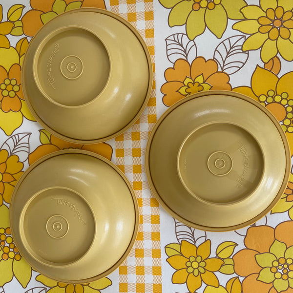 SET of 3 Retro Tupperware Containers Vintage Kitchen Cooking