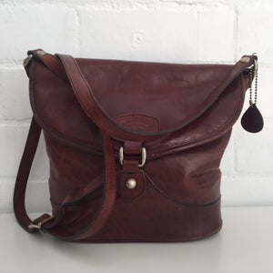 OLD School Oroton Vintage Handbag Genuine LEATHER Brown