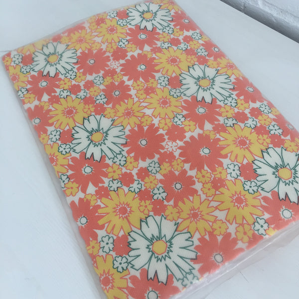 VINTAGE Party PACK PLACEMATS COASTERS CAP SERVIETTES Retro Floral 70's