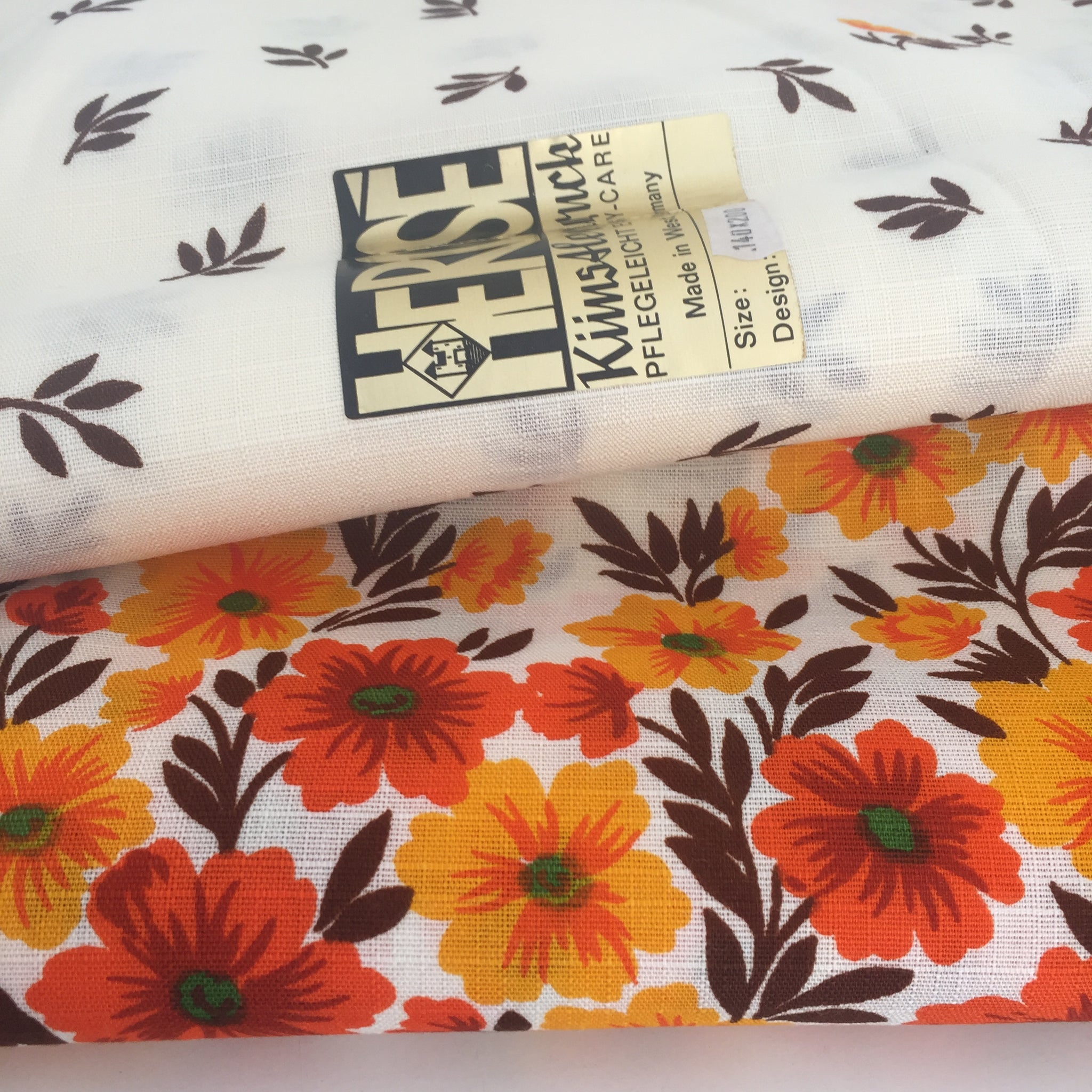 Large Unused VINTAGE Made In Germany Table Cloth Retro Caravan Kitchen