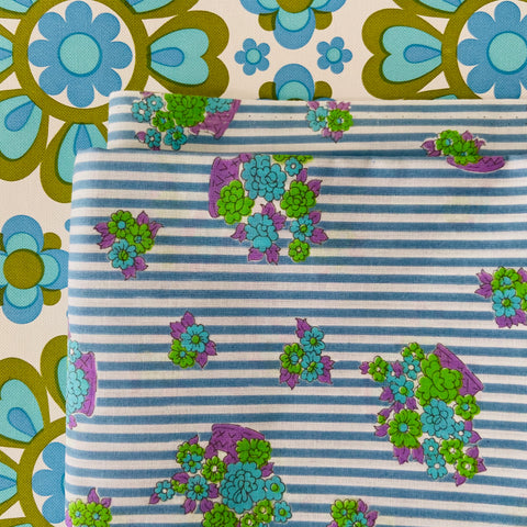 Cute VINTAGE Cotton Fabric Craft Sewing CREATIVE Cotton ~ 390cms