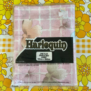 Harlequin Single Cotton Sheet Vintage UNUSED Fabric RETRO