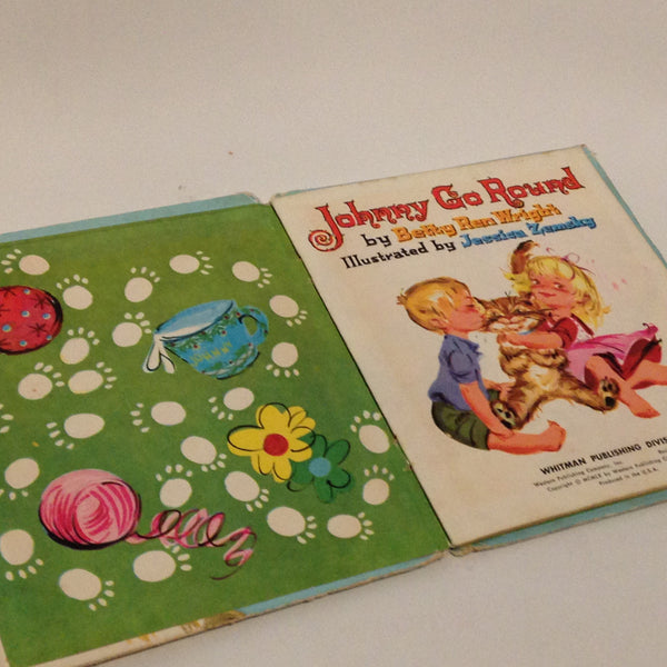 Delightful Little Vintage Children's Book Johnny Go Round Betty Ren Wright - Pink Peacock  - 4