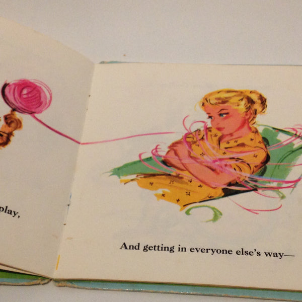 Delightful Little Vintage Children's Book Johnny Go Round Betty Ren Wright - Pink Peacock  - 6